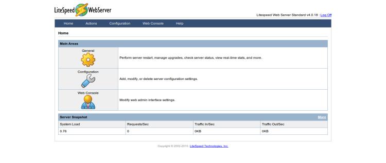 Konfigurasi litespeed webserver