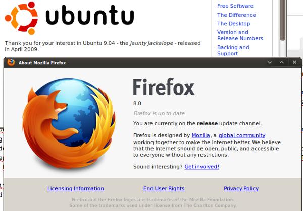 Instalasi Firefox 8 di Ubuntu 9.04 jadul