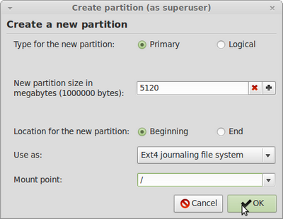 root partition