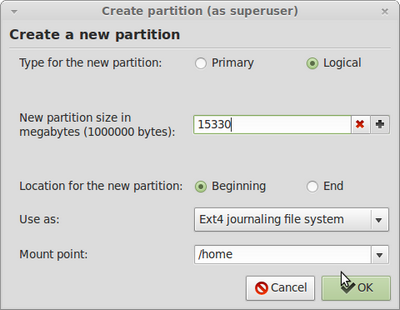 home partition